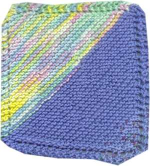 ... knitting project was knitting dishcloths this is the pattern i have